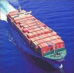 Container ship with goods from J&Y
