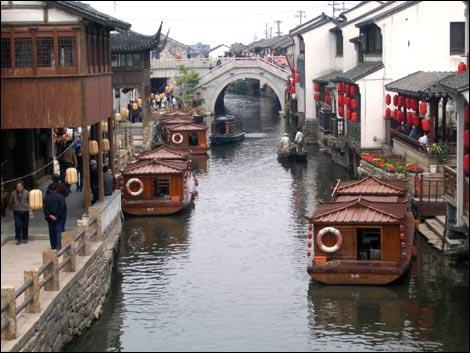 Kanaal in Suzhou
